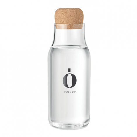 Carafe d'eau publicitaire verre et liège 600 ml OSNA