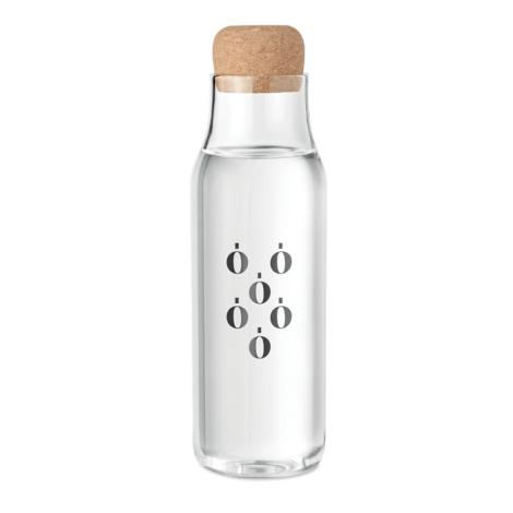 Carafe d'eau publicitaire verre et liège 1L OSNA