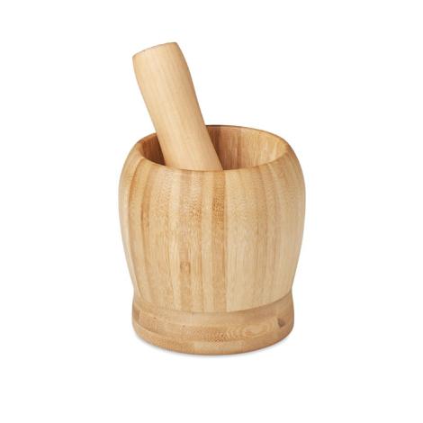 Mortier et pilon en bambou personnalisés PESTO