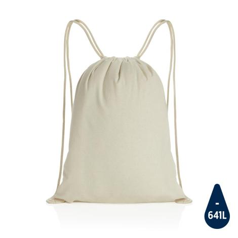 Gym bag personnalisé en coton recyclé 145 gr Impact
