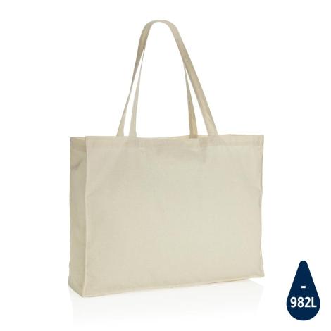 Maxi tote bag publicitaire coton recyclé 145 gr Impact
