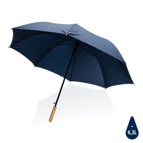 """Parapluie personnalisé 27"""" rPET et bambou Impact"""