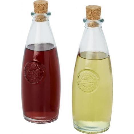 Set huile et vinaigre en verre recyclé publicitaire