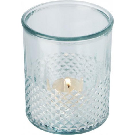 Porte-bougie publicitaire en verre recyclé ESTREL