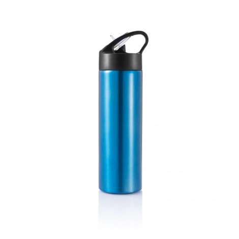 Bouteille d'eau avec paille publicitaire - SPORT