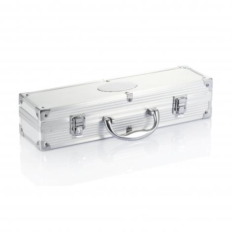 Set de 3 pièces pour barbecue en coffret aluminium personnalisable