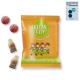 Gomme de fruit acidulée et publicitaire