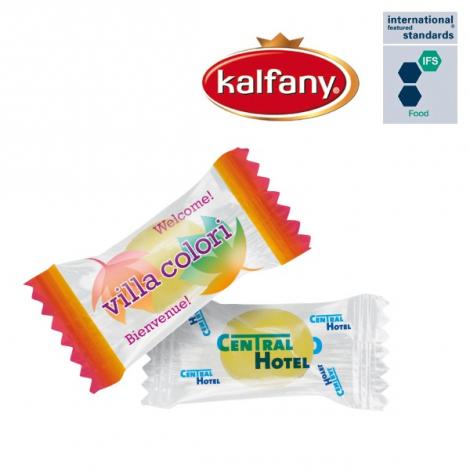 Mini-bonbons aux fruits en flowpack publicitaire