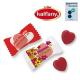 Bonbons en forme de cœur publicitaires