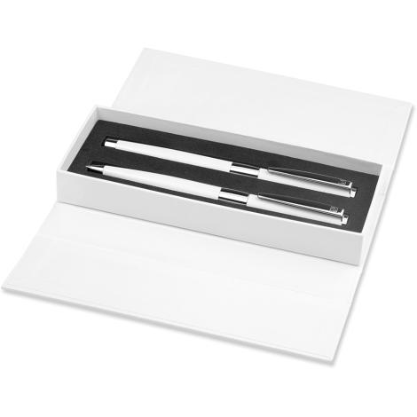 Set publicitaire de 2 stylos - Image White Line