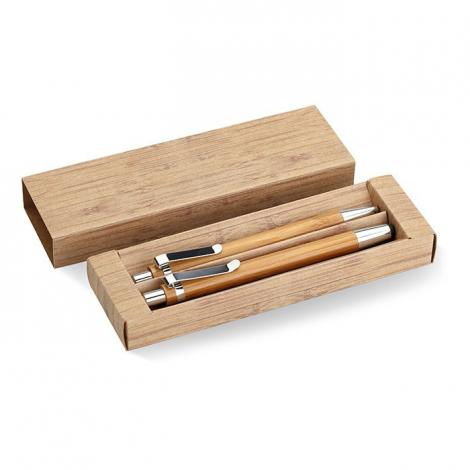 Parure publicitaire de 2 stylos - Bambooset