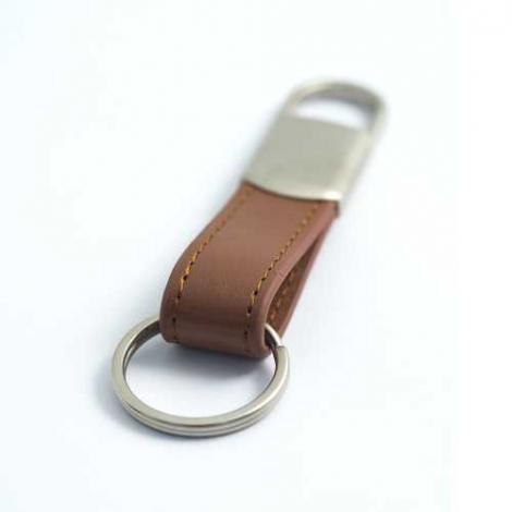 Porte-clés publicitaire avec fermeture à ressort