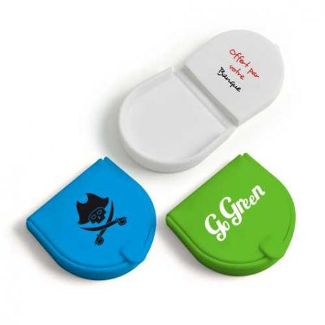 Porte-monnaie publicitaire semi ovale en silicone