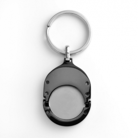 Porte-clés jeton publicitaire en métal
