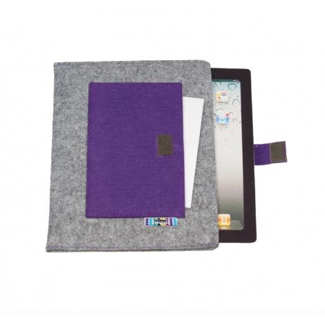 Housse pour tablettes avec une pochette note
