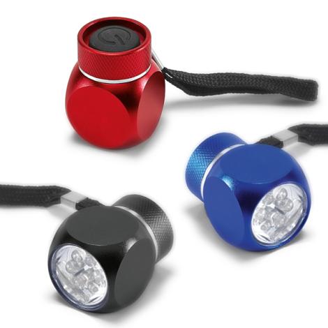 Lampe de poche publicitaire 6 LEDs avec pile.