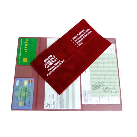 Porte carte publicitaire - sécurité sociale/banque