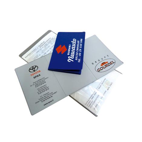 Porte carte grise 3 volets