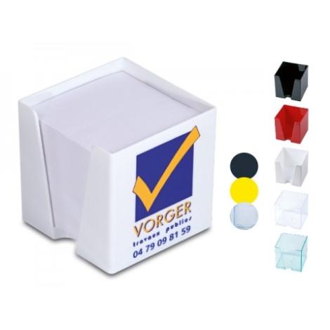 Cube bloc papier publicitaire