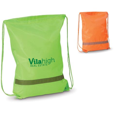 Gym bag publicitaire réfléchissant en polyester 190T