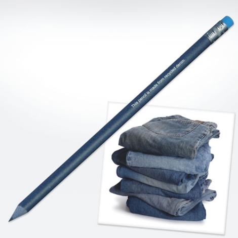 Crayon publicitaire en jeans recyclés