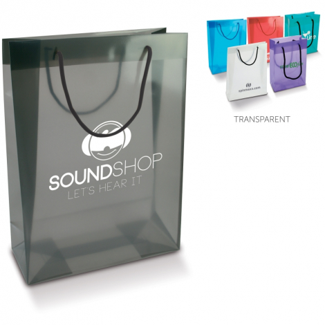 Sac shopping transparent personnalisable - Grand