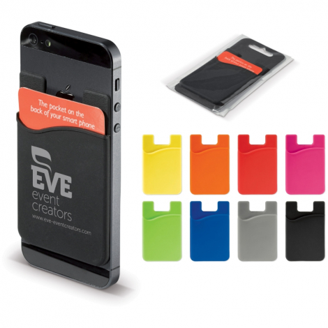 Porte-cartes smartphone silicone