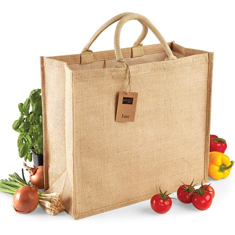 Sac shopping personnalisable en jute - Jumbo