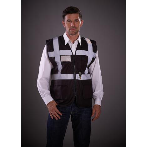 Gilet de sécurité multi-poches zippé