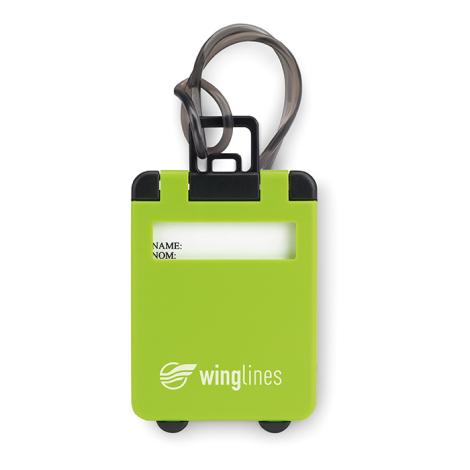Etiquette publicitaire pour bagage - Traveller