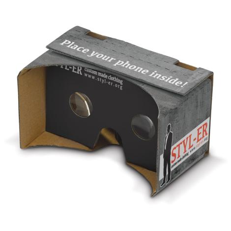 Lunette virtuelle en carton SUR-MESURE