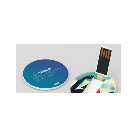 Clé USB avec logo color Card publicitaire