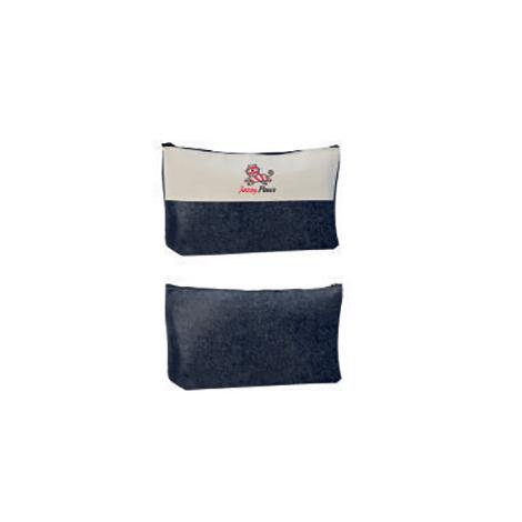 Trousse cosmétique personnalisable en jeans et coton 240 gr