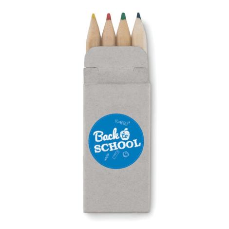 4 mini crayons de couleur publicitaires - Abigail