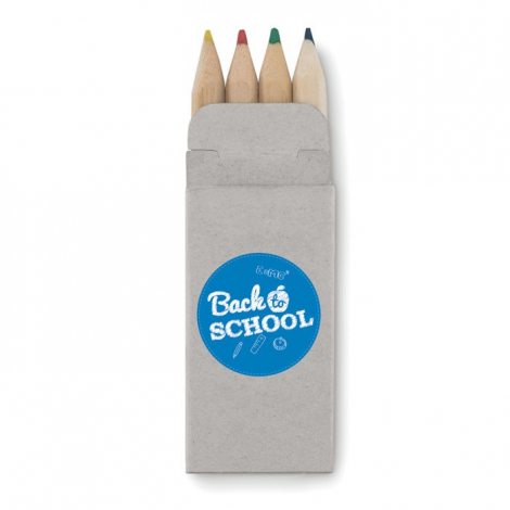 4 mini crayons publicitaires - ABIGAIL