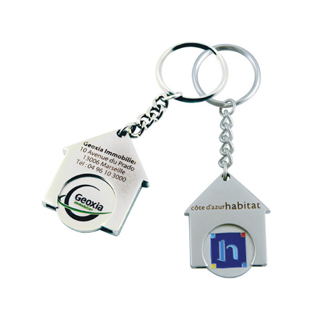 Porte-clés jeton publicitaire - Maison
