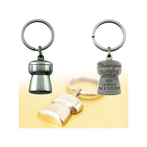 Porte-clés bouchon de champagne