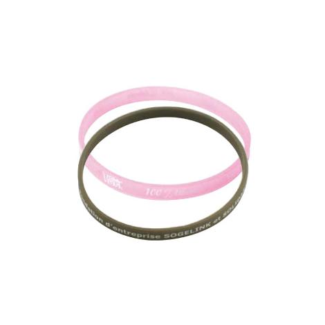 Bracelet en silicone fin et publicitaire