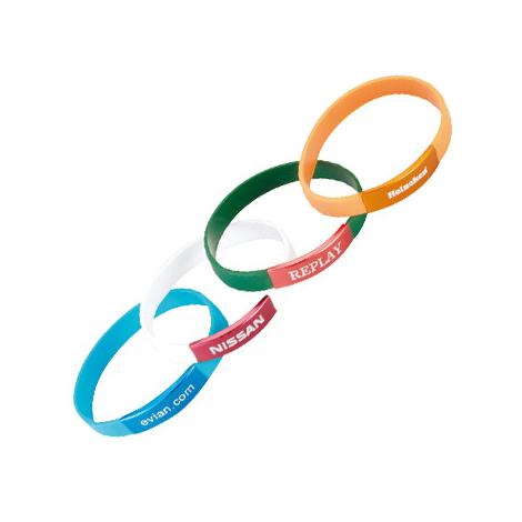 Bracelet en silicone avec une plaque aluminium publicitaire