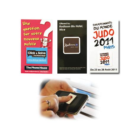 Sticky cleaner publicitaire en microfibre