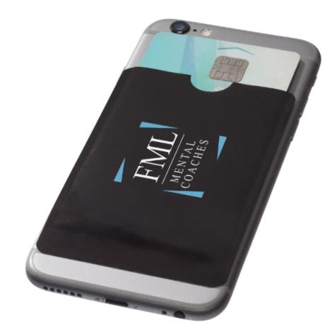 Porte carte publicitaire RFID pour smartphone