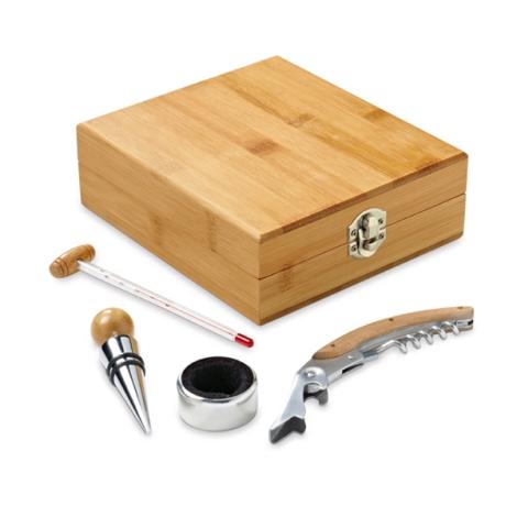 Set à vin en bambou personnalisé