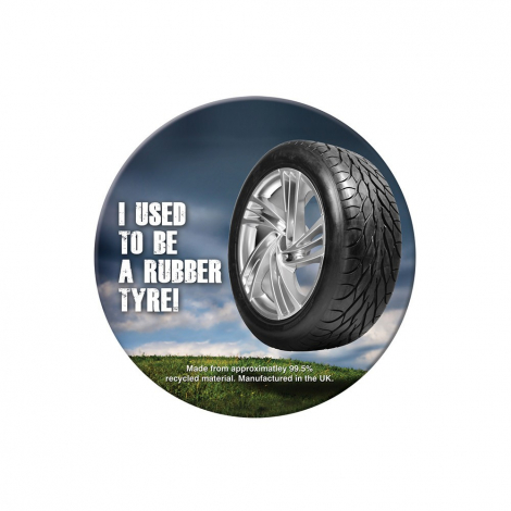 Sous-verre Brite-Mat en pneu recyclé