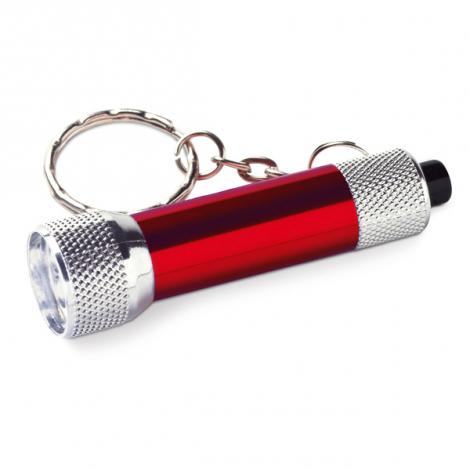 Porte-clé publicitaire avec lampe torche
