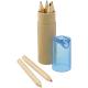 Boîte avec 6 crayons couleur