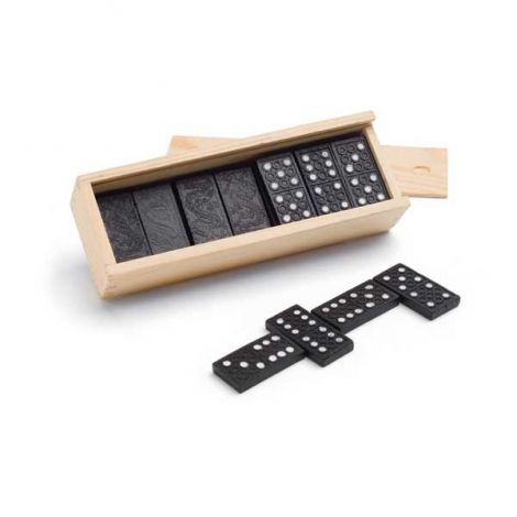 Jeu de domino promotionnel en bois