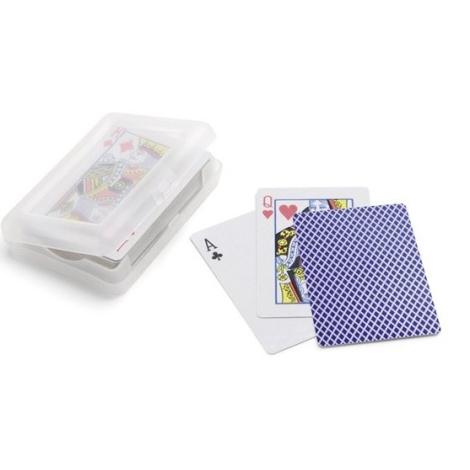 Cartes à jouer personnalisées avec boîte plastique