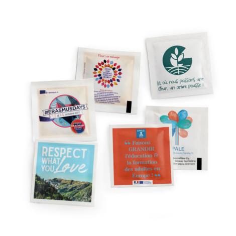 Sachet de graines 55 x 55 cm personnalisable.