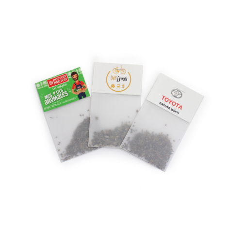 Sachet de graine en papier calque à personnaliser.