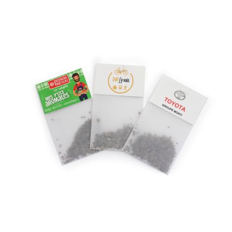Sachet de graine en papier calque publicitaire